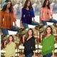 New Arrival Fashion Ladies T Shirt Nine Point Sleeve Woman blouse & top v neck lace pleat blouses