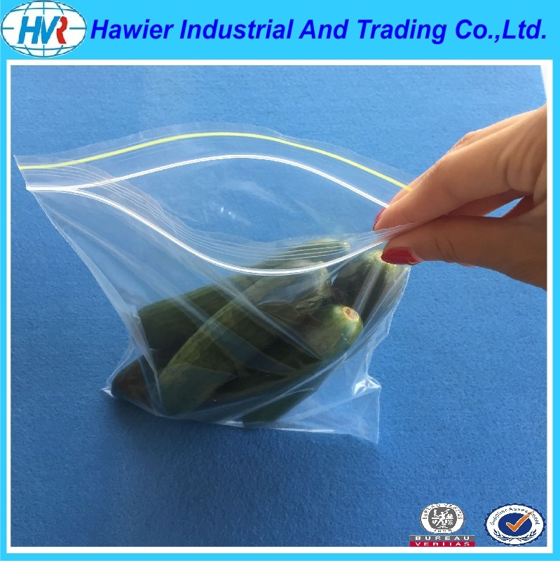 Hawier produce hot sale low density reclosable poly bags