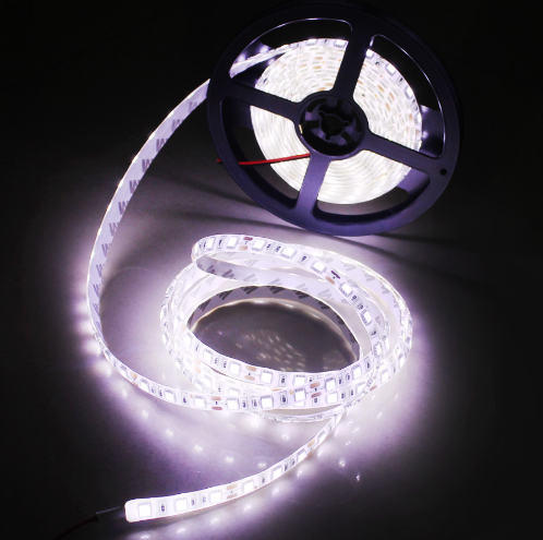 5050 Waterproof /1m/2m 60Leds/m 12V LED Strip light <strong>RGB</strong>/Blue/White/Warm White Fiexble Light Led Ribbon Tape Home Holiday Decor
