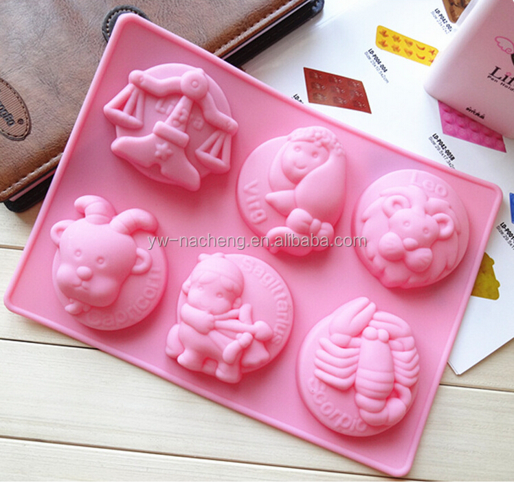 Hot sale kids cake decorating set silicone cake baking pan