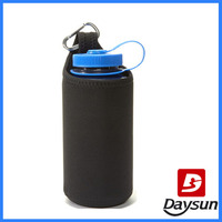 Black single neoprene bottle sleeve