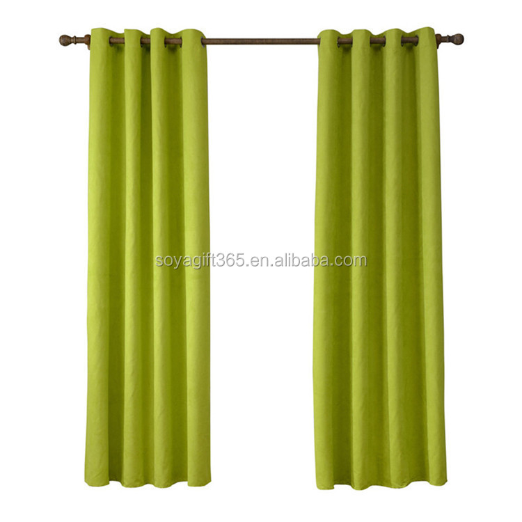 Printing Modern Faux Suede Shade Multicolor Curtain Design For Living Room