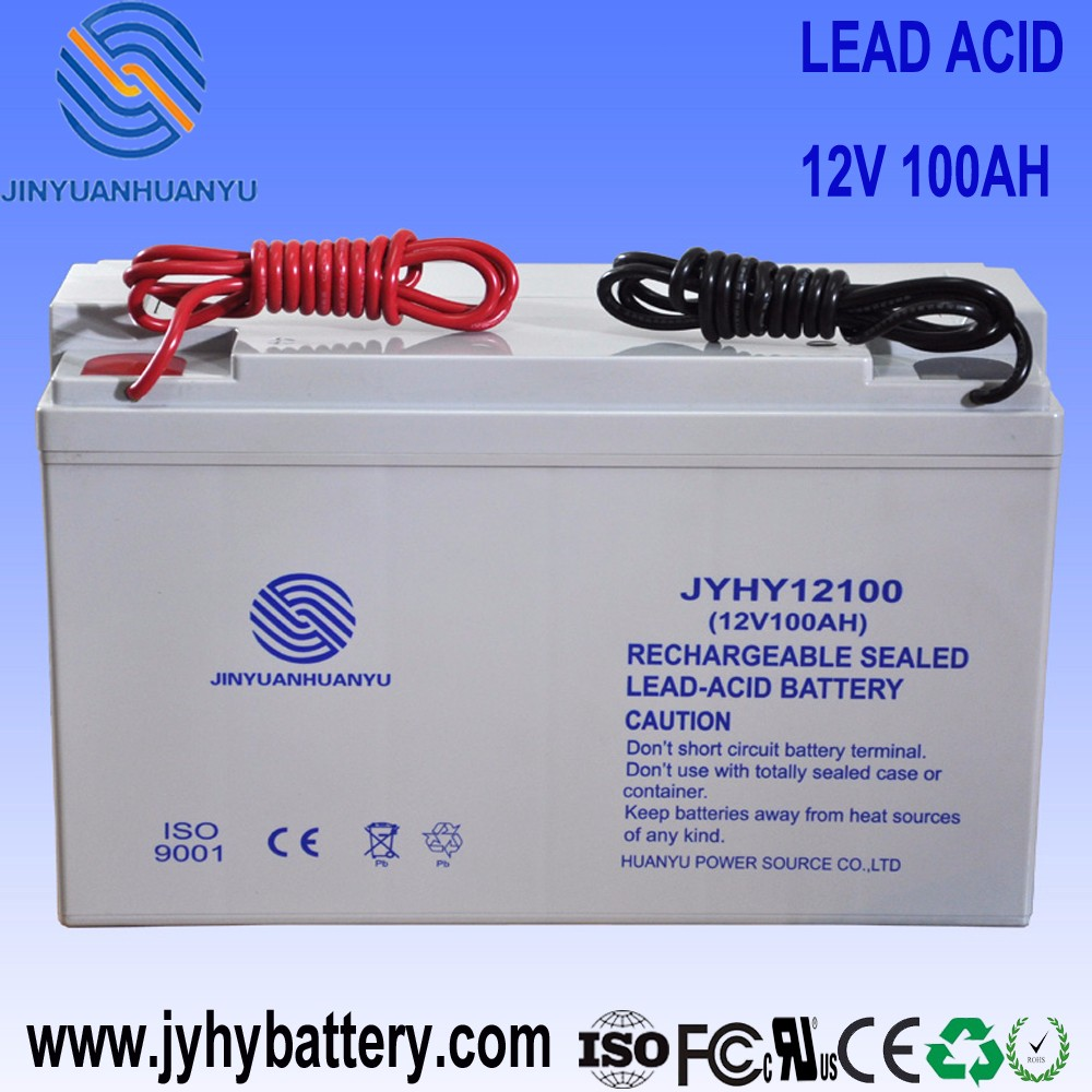 Rechargeable Battery,solar power system home,12V 100AH Deep Cycle Maintenance Free AGM Solar Storage Battery