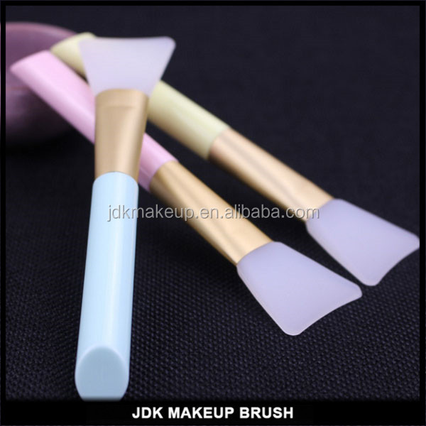 Angled silicone mask applicators brush with wood handle lovely mask applicators
