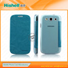 transparent back leather case cover for Samsung i9300/Galaxy S3