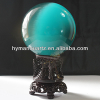 NATURAL SKY BLUE AGATE QUARTZ CRYSTAL SPHERE BALL HEALING