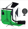 Photography Continuous SoftBox Lighting Kit 1 to 3 Softbox Light Holder for studio +Light stand+Background+backdrop+Cayy Bag