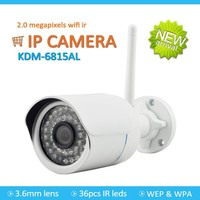 Hot sale 2mp bullet network night vision ip camera 1080p h.264 onvif p2p outdoor wireless wifi ip camera