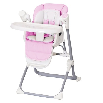 Multifunctional Luxury Foldable Portable Electric Adjustable Baby meal High chair with double Tray and Safety belt EN14988