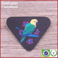 2016 New design 3d bird printed patch for work blouse