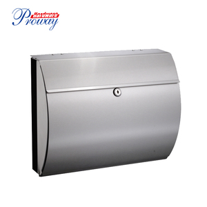 outdoor waterproof stainless steel mailbox with newspaper holder