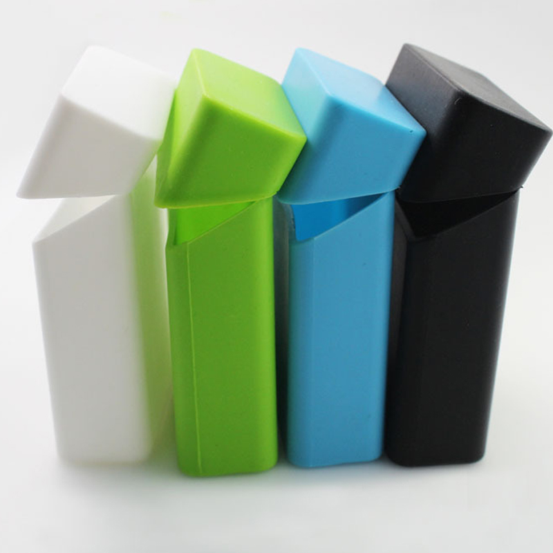 factory full color smoking portable colorful silicone cigarette case slim