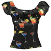 Europe women new fashion cocktail print off-shouder crop tops hot sale lady tops
