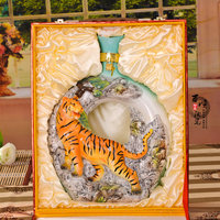 hand painted tiger decorative wine ceramic bottles