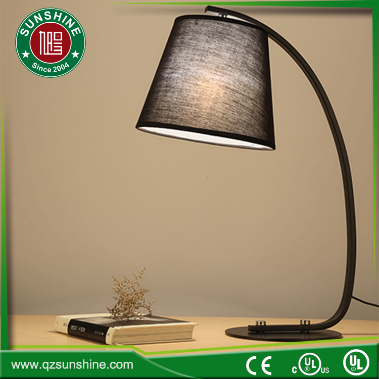 modern new LED fabric lampshade metal table lamp desk lamp for home/office