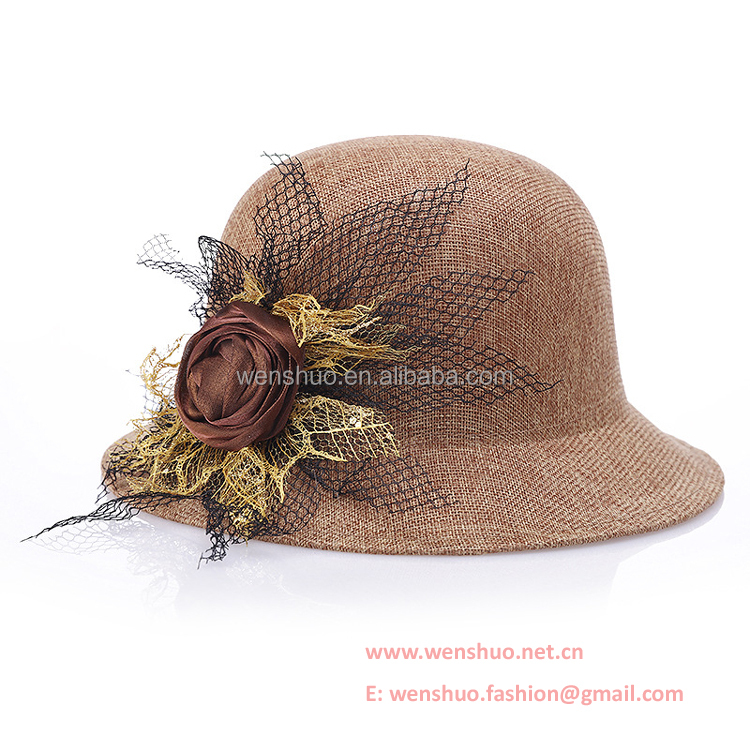 2016 Summer New Flower Elegant Ladies Hat