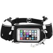 Wholesale PVC Touchscreen Pockets Running Waist Pack With Two BPA Free Water Bottles