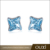 Hot Sale Latest Design Fashion Earrings Jewelry Authentic Ocean Blue Austria Crystal Stud Earrings