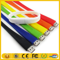 Colorful silicon wrist usb flash drives skin with wholesale price