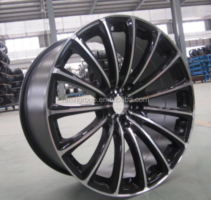 black machined face alloy car wheel rim/ wire wheels