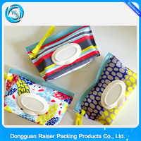Made in China PVC portable baby wet wipes, wet tissues bag