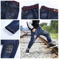 Boy Biker Cool Design Kids Six Pockets Jeans