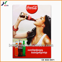 2014 New Design Drink 3D Poster, Promotion Plastic 3D Poster Factory & Manufacture