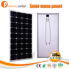 Low price of 100 watt 18v monocrystalline solar panel for Niger