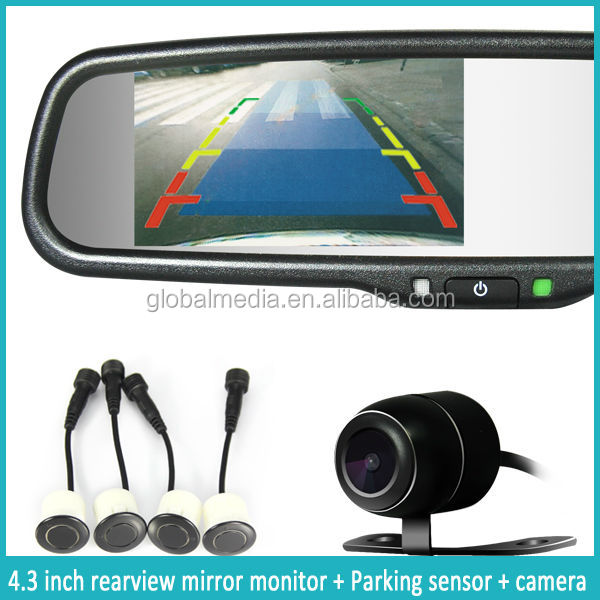 Original Car Bracket 4.3'' Bluetooth Rear View Car Mirror Monitor Touch button