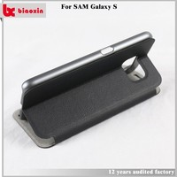 Low moq Free sample leather back cover for samsung galaxy s4
