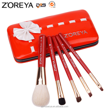 Zoreya Free Samples 5pcs beauty needs makeup brush set travel private label cosmetic