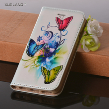 Shock Resistant For LG P880 PU Leather Mobile Phone Case With Flower Pattern