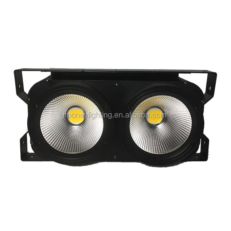 2 eye 2x100w warm white cool white <strong>LED</strong> COB Blinder stage light