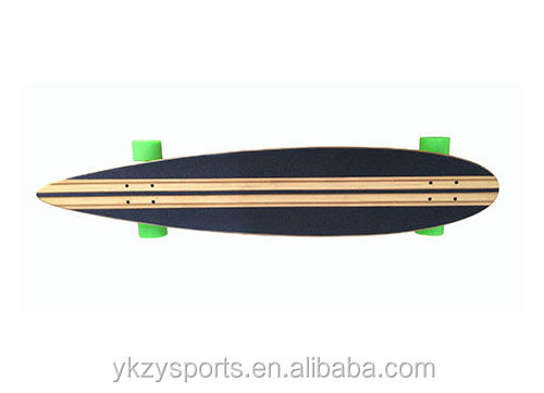 40inch custom bamboo and maple deck longboard skateboard with aluminum trucks