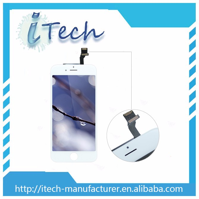 Hot! 100% Testing Pass! Gradae AAA high quality capacitive touch screen pan for iphone 6 lcd