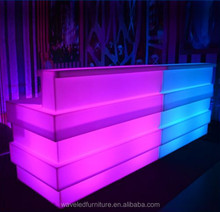 Decorative home wine led bar counter restaurant led bar counters