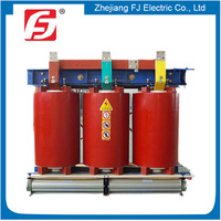 Effective Power Rate 95% Three Phase Step Down 1000KVA 11KV Epoxy Resin Dry Transformer