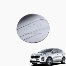 car decoration accessories For KX5 Sportage Accessories 2016 2017 Gas Fuel Tank Cover ABS Chromed car