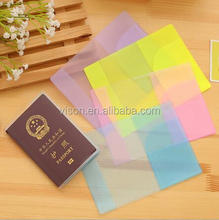 Color See through travel PVC waterproof passport holder case bag cover