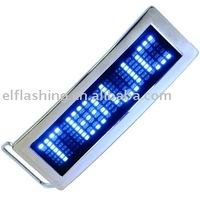 led badge, led message card