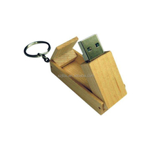 Latest Best Selling Products Rotate Models Wooden Swivel USB Flash Drive 4GB