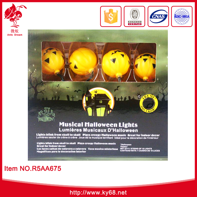 2016 hot sale plastic lighted halloween pumpkins