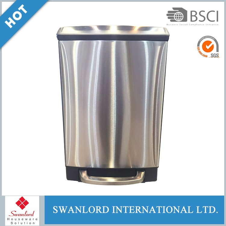 New Design Recycling Pedal Waste Dustbin / Stainless Steel Garbage Bin