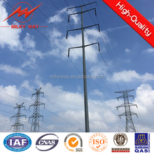 Galvanized 110KV transmission distribution pole electrical power tower suppliers