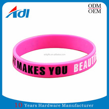 no minimum order cheap custom couple name friendship rubber PVC bracelets