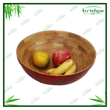 bamboo wood salad bowl