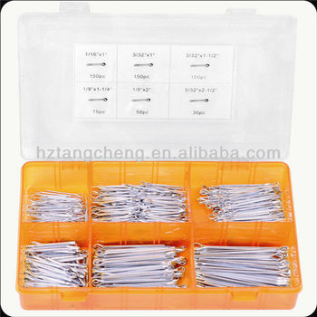 TC 555pc Hardware Assorted Locking Cotter Pin