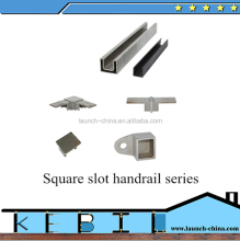 glass protection stainless steel cap rail U channel