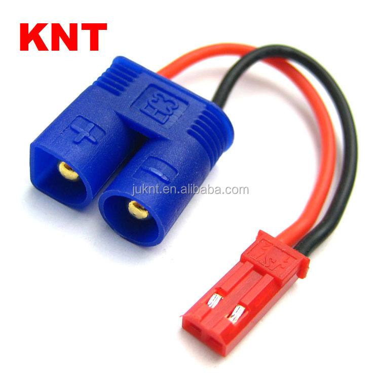 KNT KT-81833A RC Conversion wire connector 3.5mm EC3 male to JST/BEC male Adapter wire For RC Car /Truck