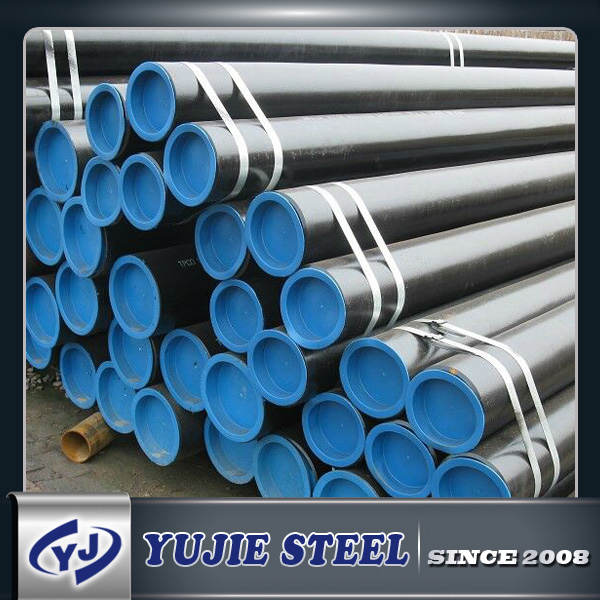 ASTM A53 schedule 40 ASME B36.10M Carbon Steel seamless pipe with beveled end and caps